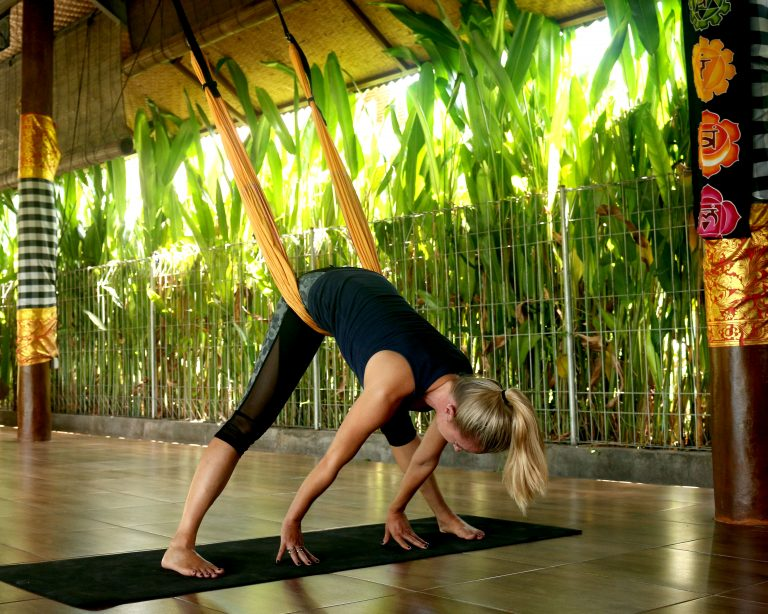 Yoga Swing Positions for Lower Back Pain