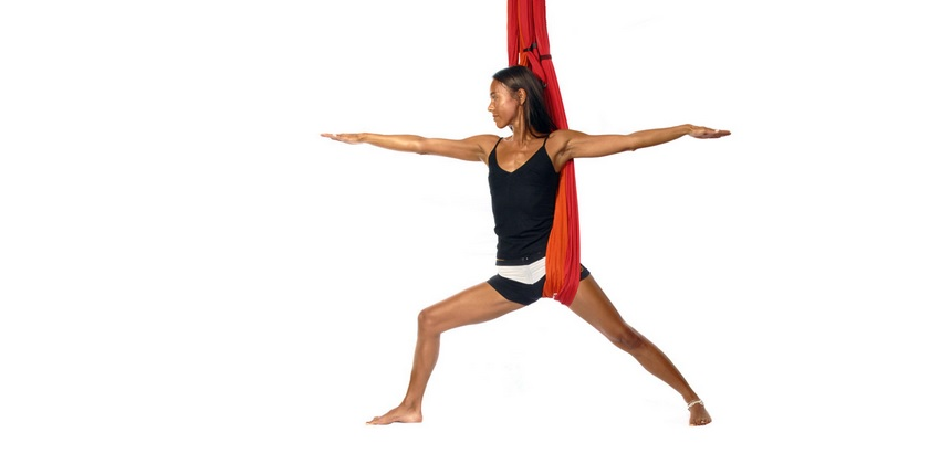 Warrior Pose - Yoga Swing Mat Yoga Poses