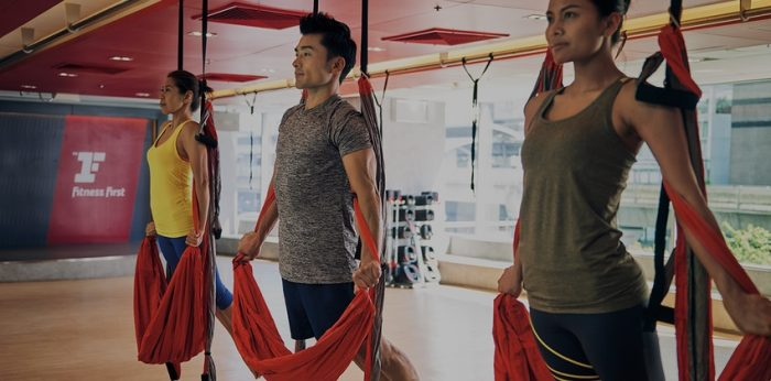 Fitness First Aerial Yoga
