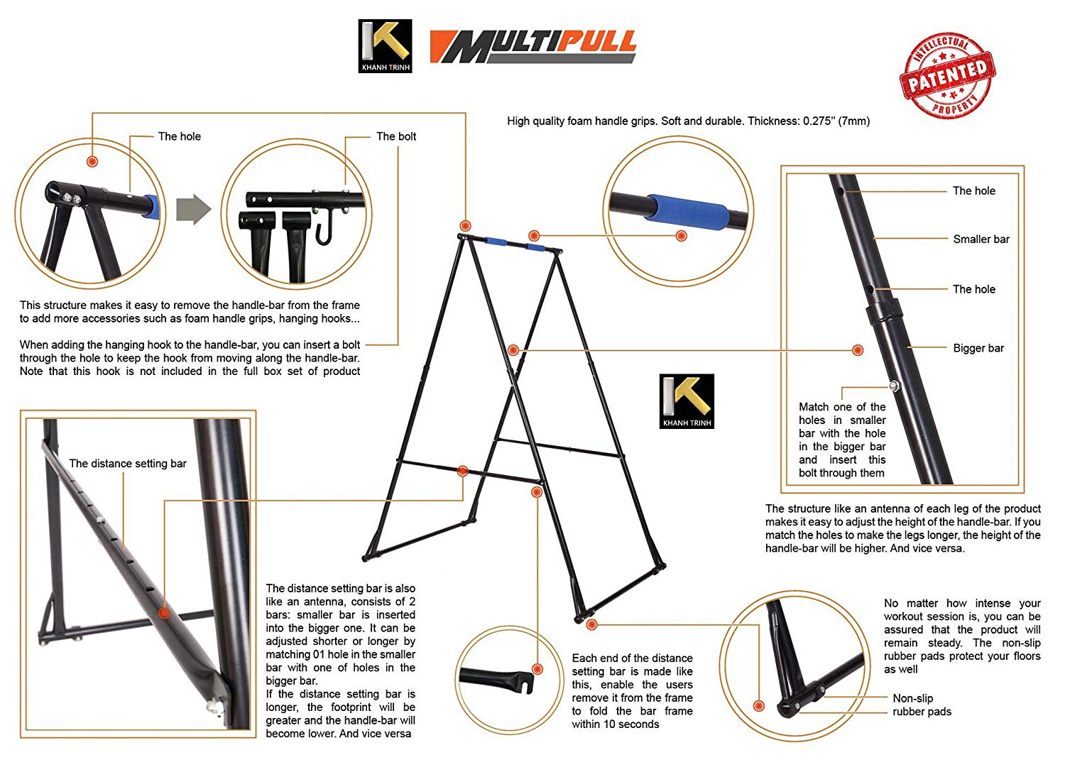 KT yoga stand assembly