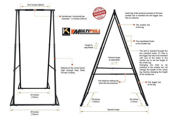 KT yoga stand dimentions