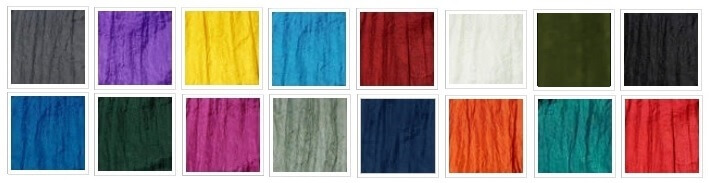 16 Swing Fabric Colours