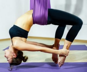 benefits stay active with aerial yoga