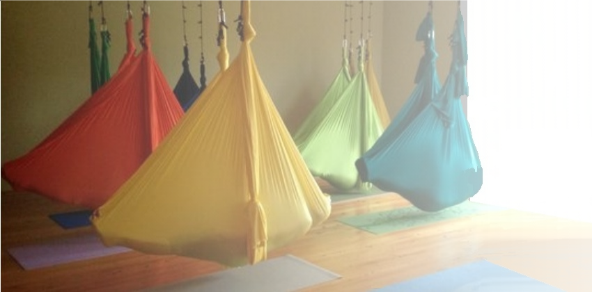 aerial yoga poses for stress