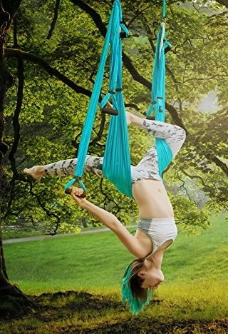 hang yoga swings from a tree