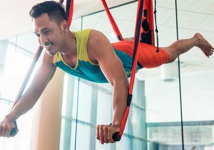 Aerial Yoga Poses - Superman Pose
