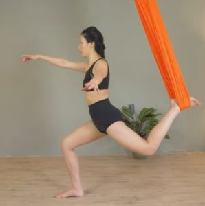 Restorative Yoga Swing Poses Aerial Lunges
