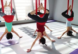 aerial yoga for runners inverted pigion pose