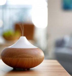 essential oil diffuser in aerial yoga