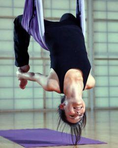 Aerial Yoga Poses for Weight Loss - Aerial Bridge Pose