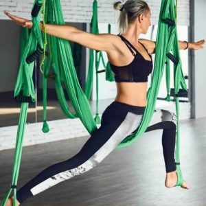 Aerial Yoga Poses for Weight Loss - Antigravity Warrior Pose