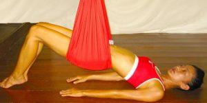 Morning Aerial Yoga Poses - Bridge Pose Aerial